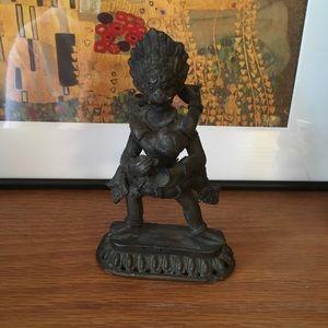 Vintage Indian Deity with Consort Brass Figurine